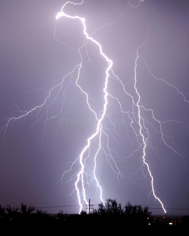 αστραπή Tucson AZ στοκ φωτογραφίες με δικαίωμα ελεύθερης χρήσης