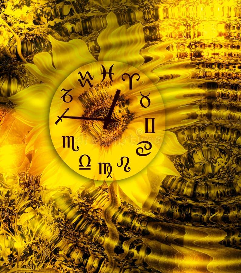 αστρικός χρόνος διανυσματική απεικόνιση