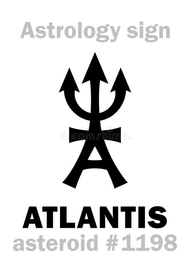 Αστρολογία: αστεροειδές ATLANTIS διανυσματική απεικόνιση