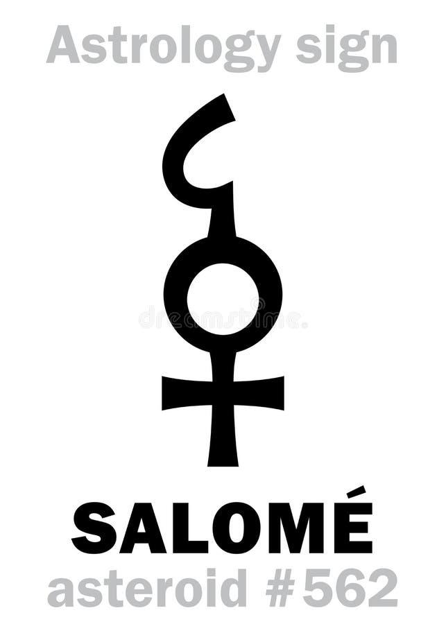 Αστρολογία: αστεροειδές SALOME απεικόνιση αποθεμάτων