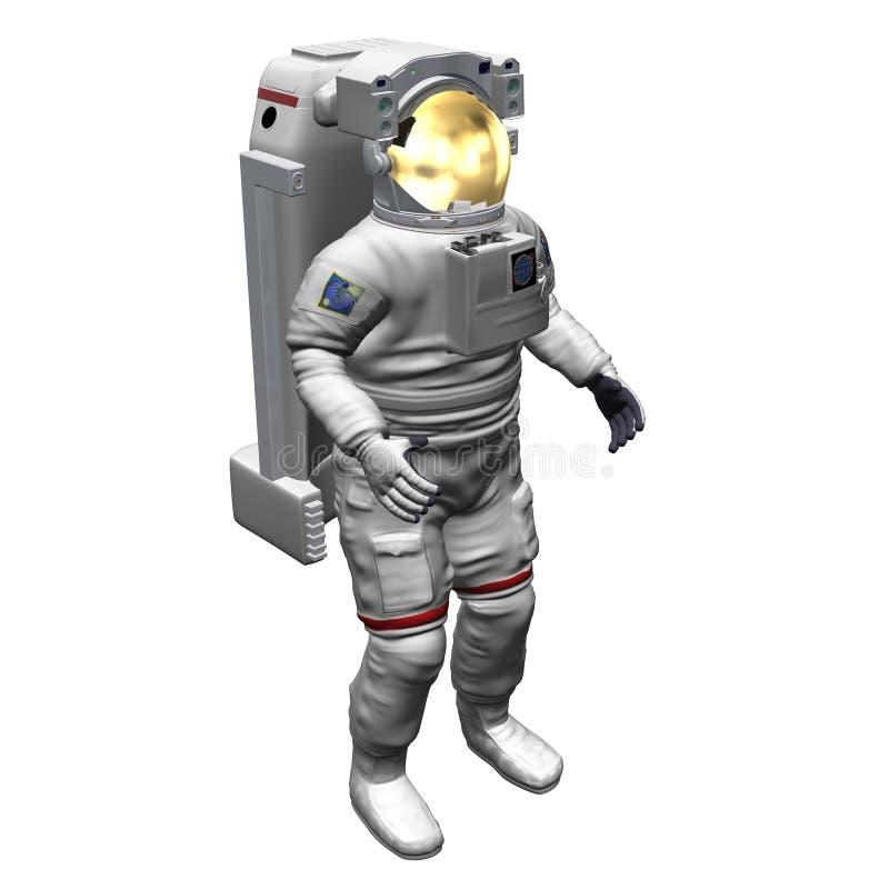 αστροναύτης που απομονώνεται ελεύθερη απεικόνιση δικαιώματος