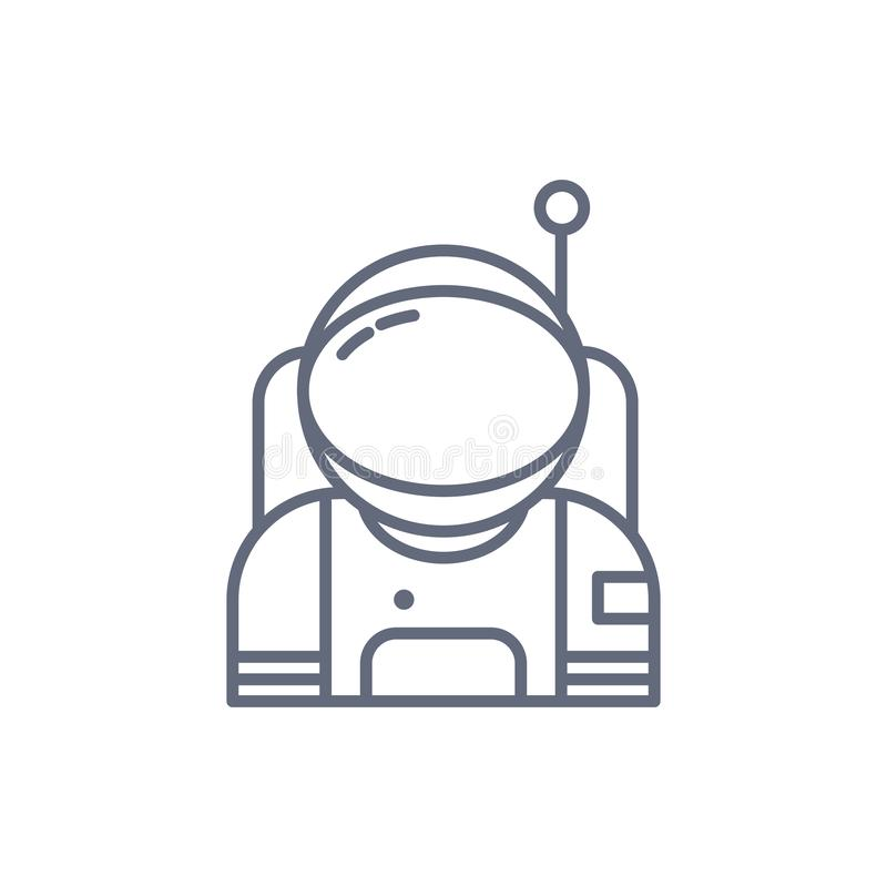 Αστροναύτης στο διαστημικό εικονίδιο Στοιχεία του διαστημικού εικονιδίου Γραφικό σχέδιο εξαιρετικής ποιότητας Σημάδια, συλλογή συ ελεύθερη απεικόνιση δικαιώματος