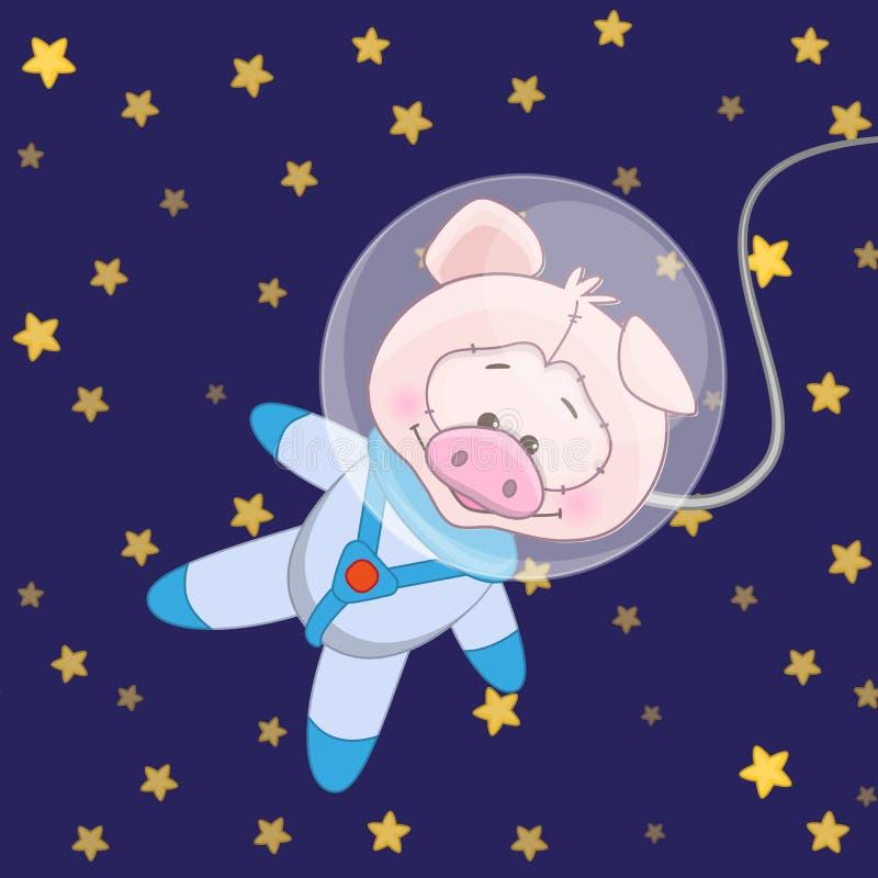 Αστροναύτης χοίρων ελεύθερη απεικόνιση δικαιώματος