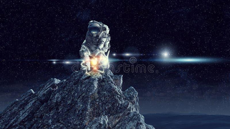 Αστρονομία ως επιστήμη Μικτά μέσα στοκ φωτογραφία