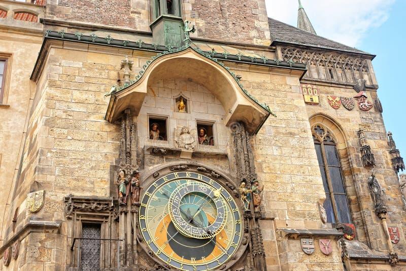 Αστρονομικό ρολόι του παλαιού Δημαρχείου στην Πράγα στοκ φωτογραφίες