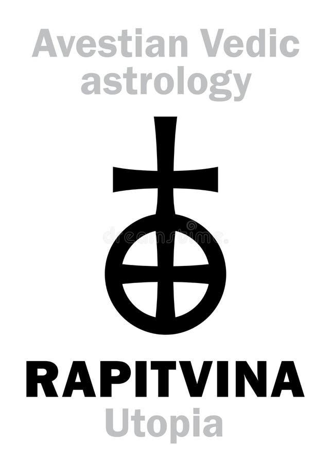 Αστρολογία: αστρικός πλανήτης RAPITVINA ουτοπία απεικόνιση αποθεμάτων