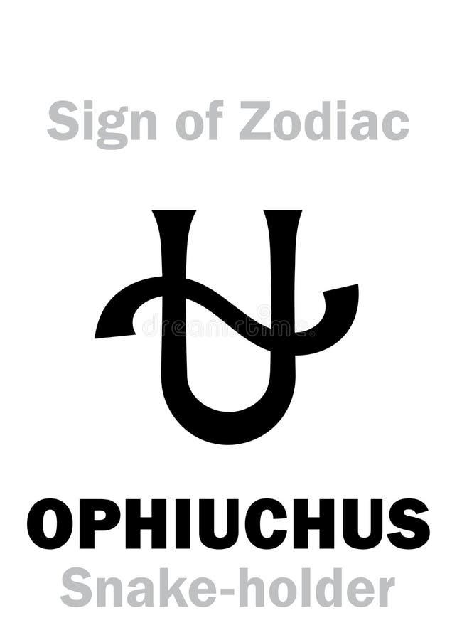 Αστρολογία: Σημάδι Zodiac OPHIUCHUS ελεύθερη απεικόνιση δικαιώματος