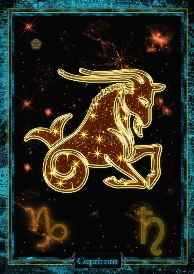 Αστρολογική απεικόνιση: Αιγόκερος ελεύθερη απεικόνιση δικαιώματος
