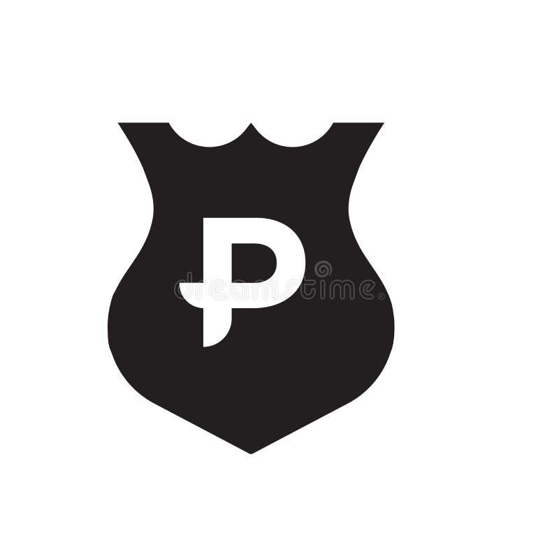 Αστυνομίας ασπίδων σημάδι και σύμβολο εικονιδίων διανυσματικό που απομονώνονται στο άσπρο υπόβαθρο, έννοια λογότυπων ασπίδων αστυ απεικόνιση αποθεμάτων