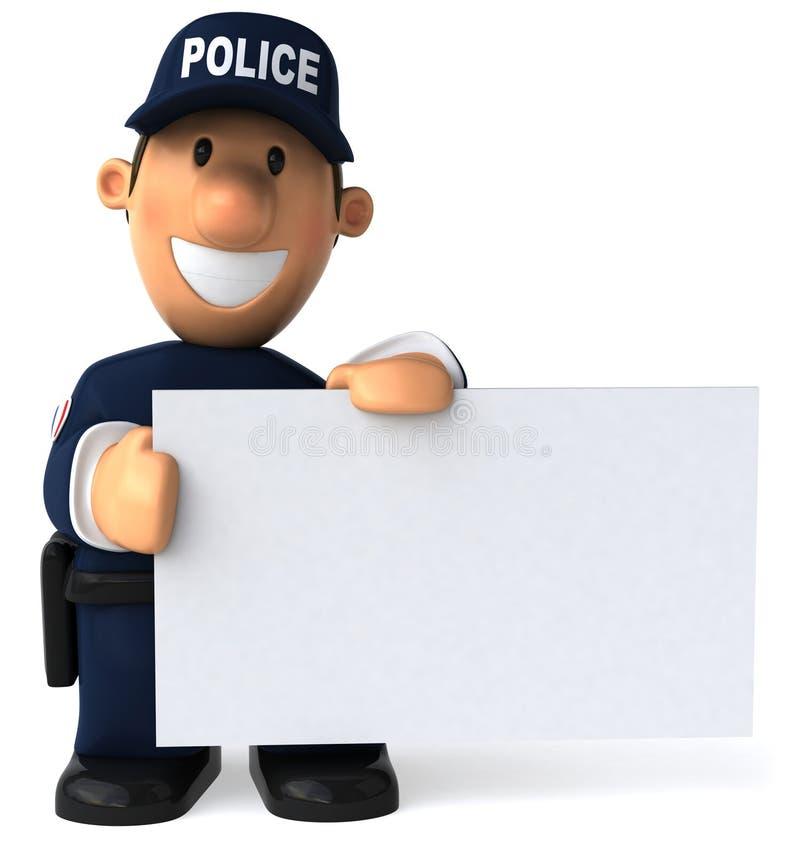 αστυνομία ανώτερων υπαλ&lamb απεικόνιση αποθεμάτων