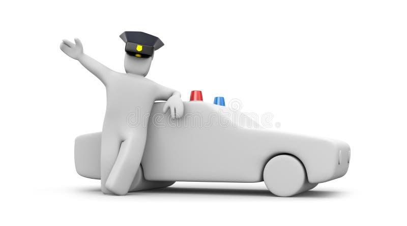 αστυνομία ατόμων αυτοκιν απεικόνιση αποθεμάτων