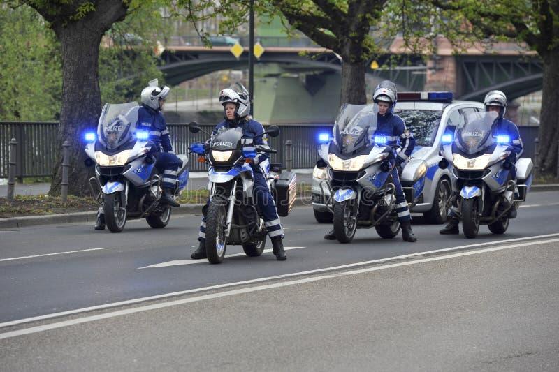 αστυνομία αυτοκινητοπομπών στοκ εικόνα