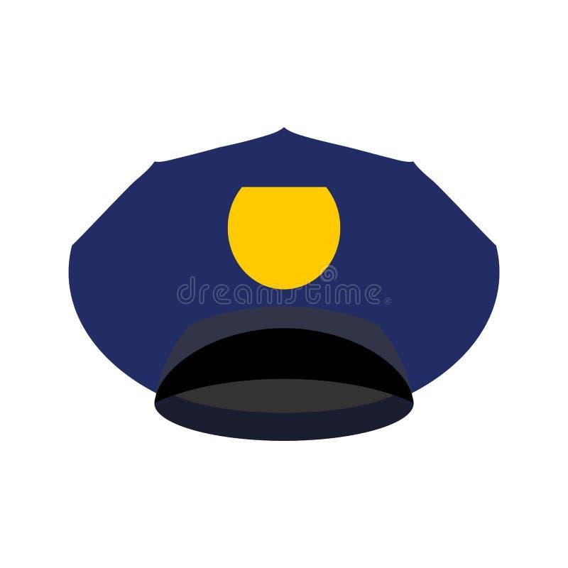 Αστυνομία ΚΑΠ που απομονώνεται Ανώτερος υπάλληλος σπολών καπέλων Βοηθητικός αστυνομικός διανυσματική απεικόνιση