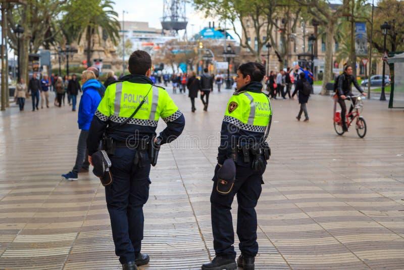 Αστυνομία στη Βαρκελώνη στοκ φωτογραφία