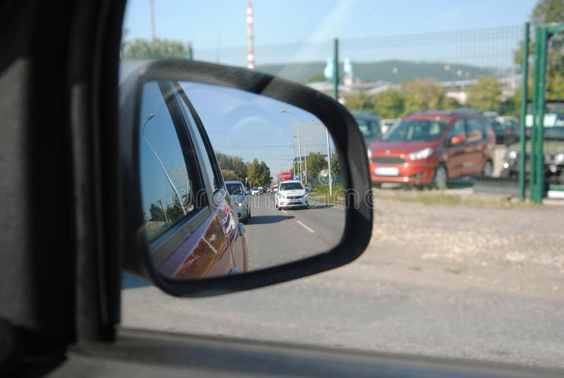 Αστυνομία στον καθρέφτη στοκ εικόνες