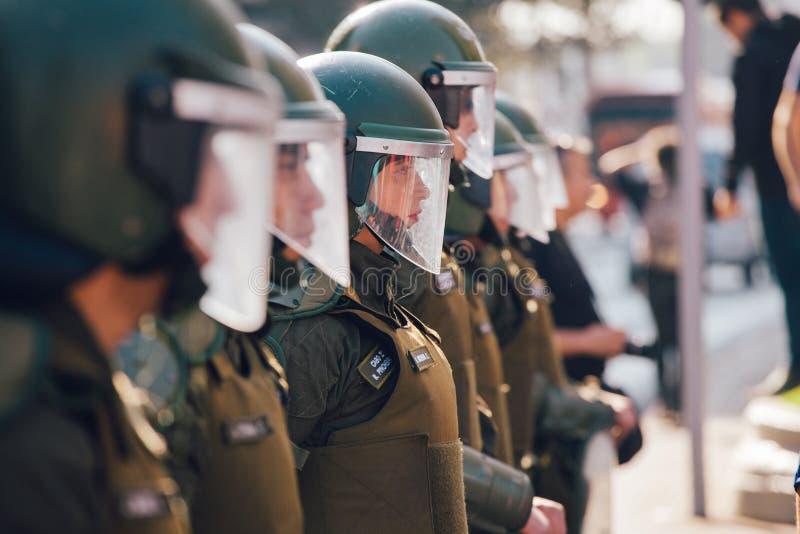 Αστυνομία ταραχής γυναικών στοκ εικόνες