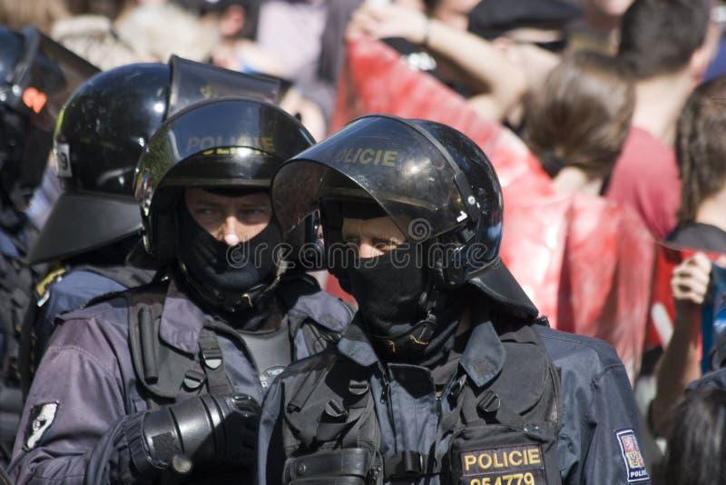 Αστυνομία ταραχής στοκ εικόνες