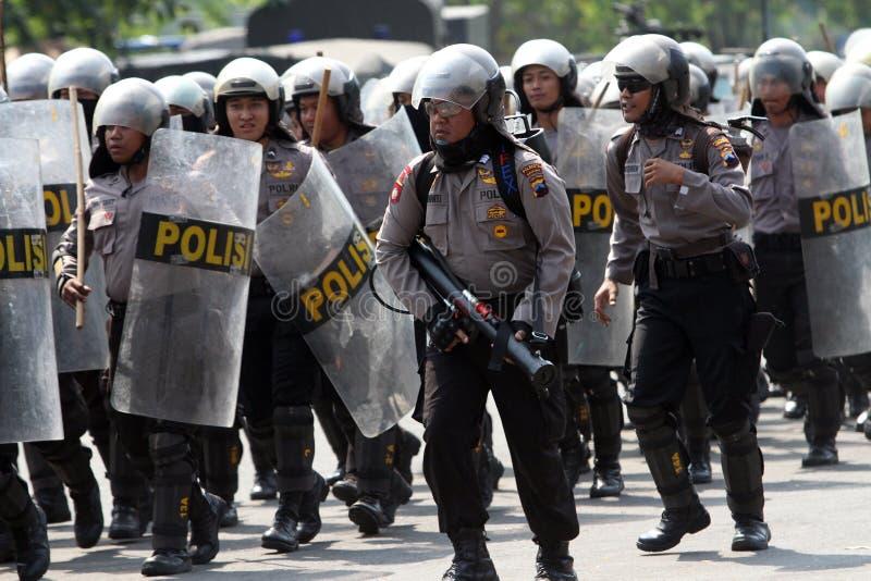 Αστυνομία ταραχής στοκ εικόνες με δικαίωμα ελεύθερης χρήσης