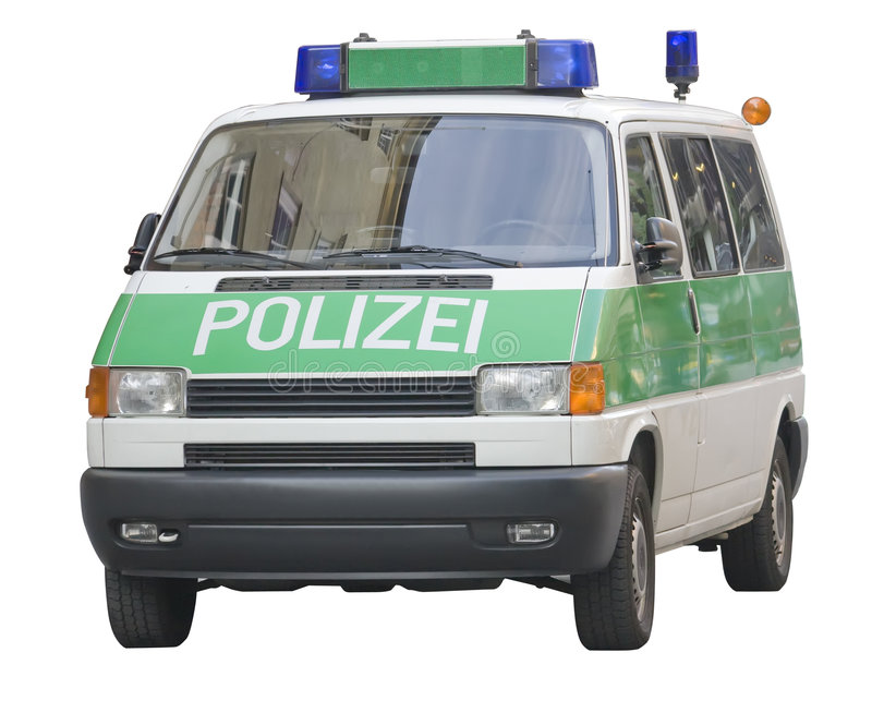 αστυνομία της Γερμανίας &alp στοκ φωτογραφία με δικαίωμα ελεύθερης χρήσης