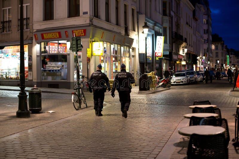 Αστυνομία του Βελγίου που η πόλη των Βρυξελλών στοκ φωτογραφίες