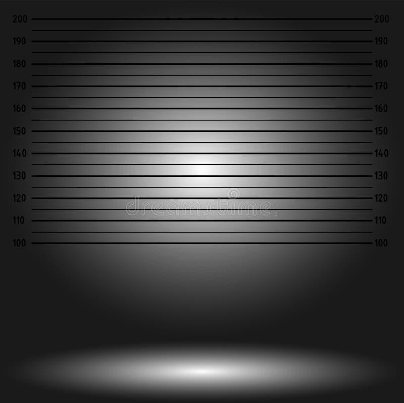 Αστυνομία lineup ή mugshot υπόβαθρο διανυσματική απεικόνιση