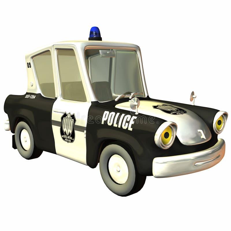 αστυνομία Toon αυτοκινήτων ελεύθερη απεικόνιση δικαιώματος