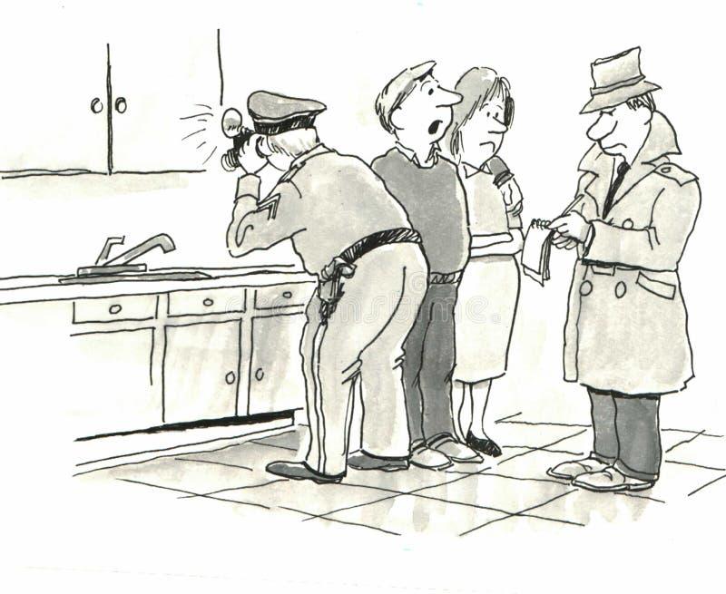 Αστυνομική έρευνα διανυσματική απεικόνιση