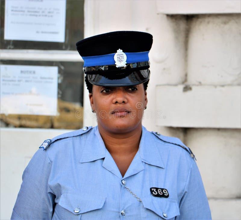 Αστυνομικίνα Αγιών Λουκία στοκ φωτογραφία
