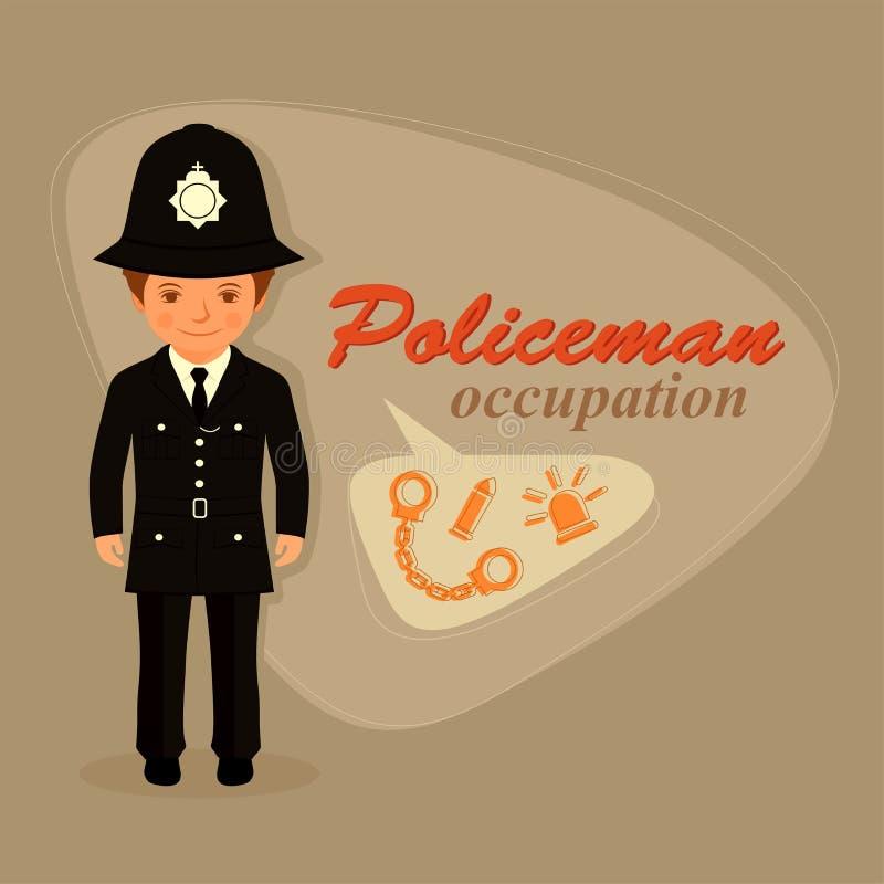Αστυνομικός, αστυνομικός απεικόνιση αποθεμάτων