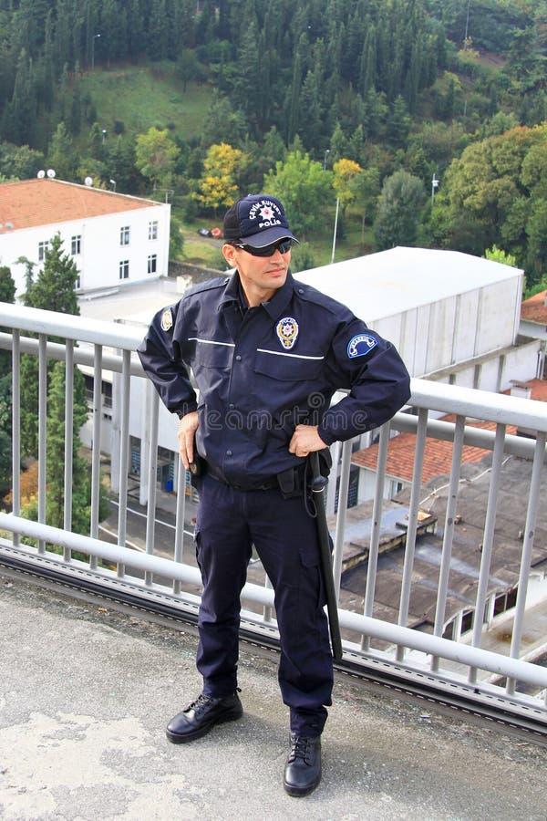 αστυνομικός γεφυρών στοκ εικόνα