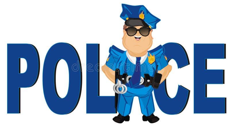 Αστυνομικός και μεγάλες επιστολές ελεύθερη απεικόνιση δικαιώματος