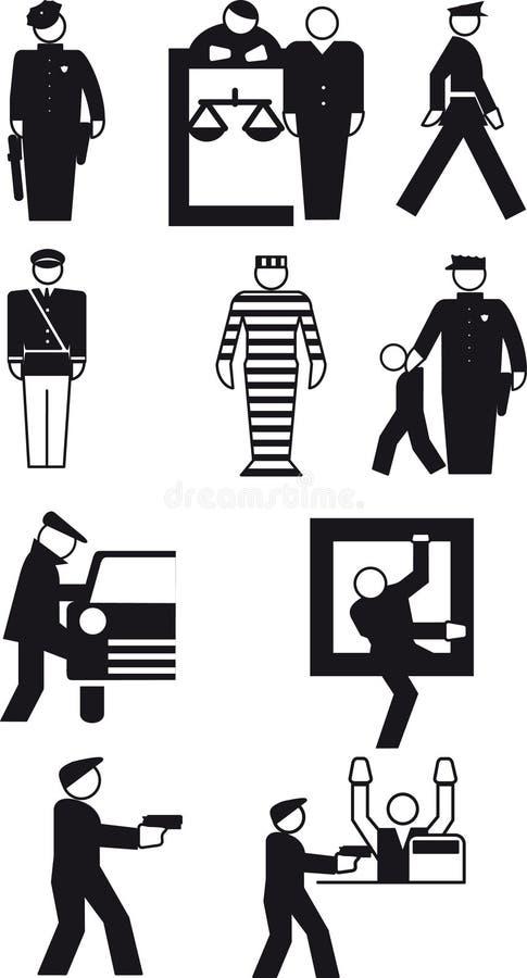 Αστυνομικός και ο κλέφτης απεικόνιση αποθεμάτων