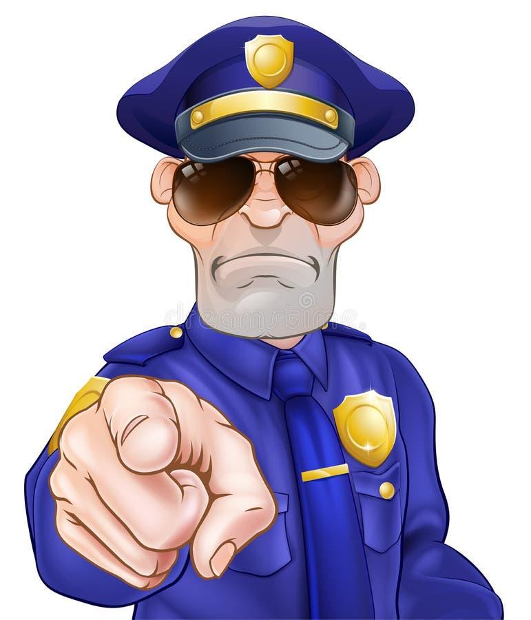 Αστυνομικός κινούμενων σχεδίων διανυσματική απεικόνιση
