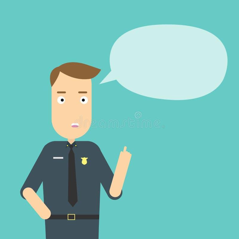 Αστυνομικός με τη λεκτική φυσαλίδα απεικόνιση αποθεμάτων