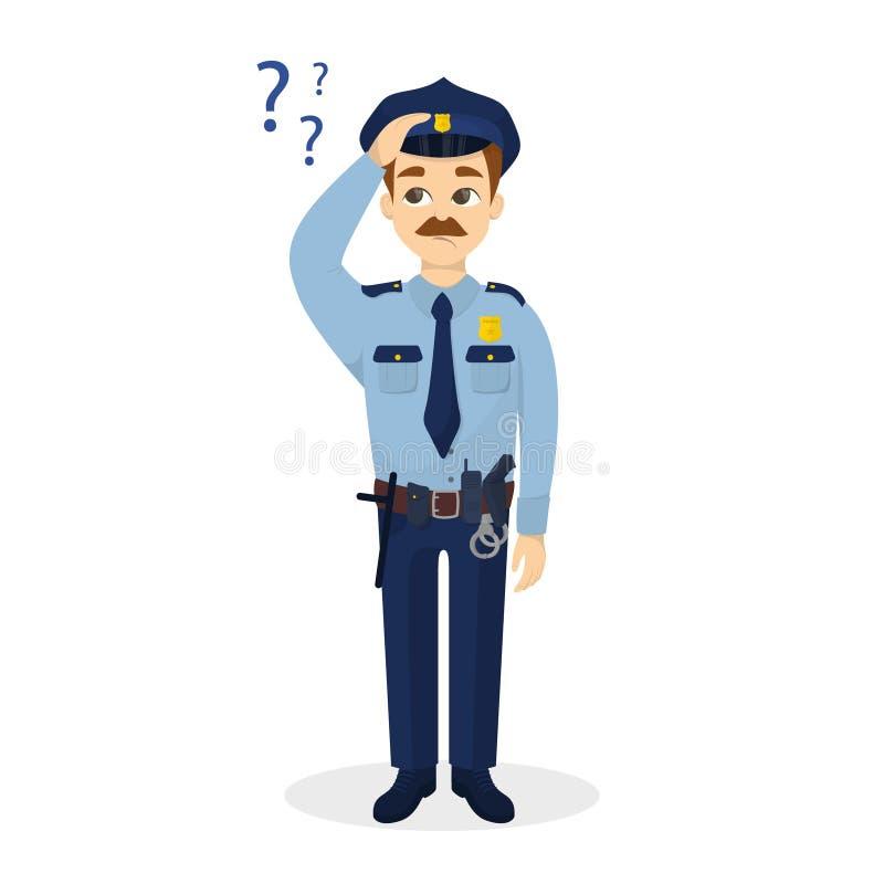 Αστυνομικός με τις ερωτήσεις απεικόνιση αποθεμάτων