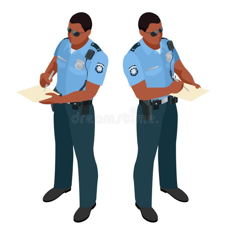 Αστυνομικός σε ομοιόμορφο Εικονίδιο αστυνομικών Διάνυσμα αστυνομικών απεικόνιση αποθεμάτων