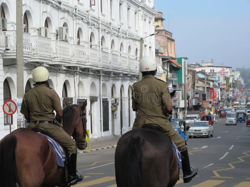 Αστυνομικός σε Kandy/Σρι Λάνκα στοκ εικόνα