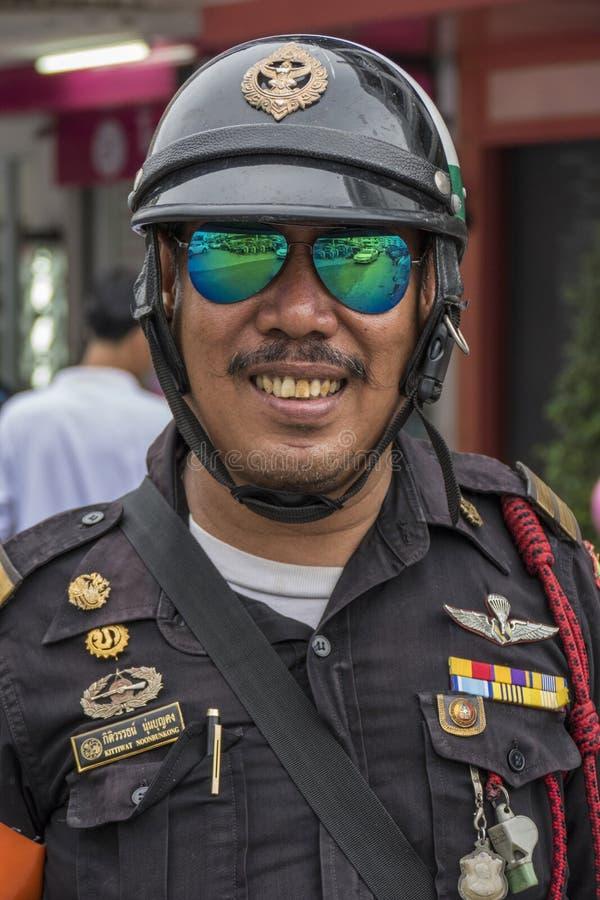Αστυνομικός σε Krabi, Ταϊλάνδη στοκ εικόνες