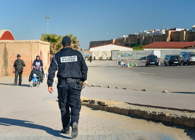 Αστυνομικός στην οδό στη Rabat, Μαρόκο στοκ φωτογραφία με δικαίωμα ελεύθερης χρήσης