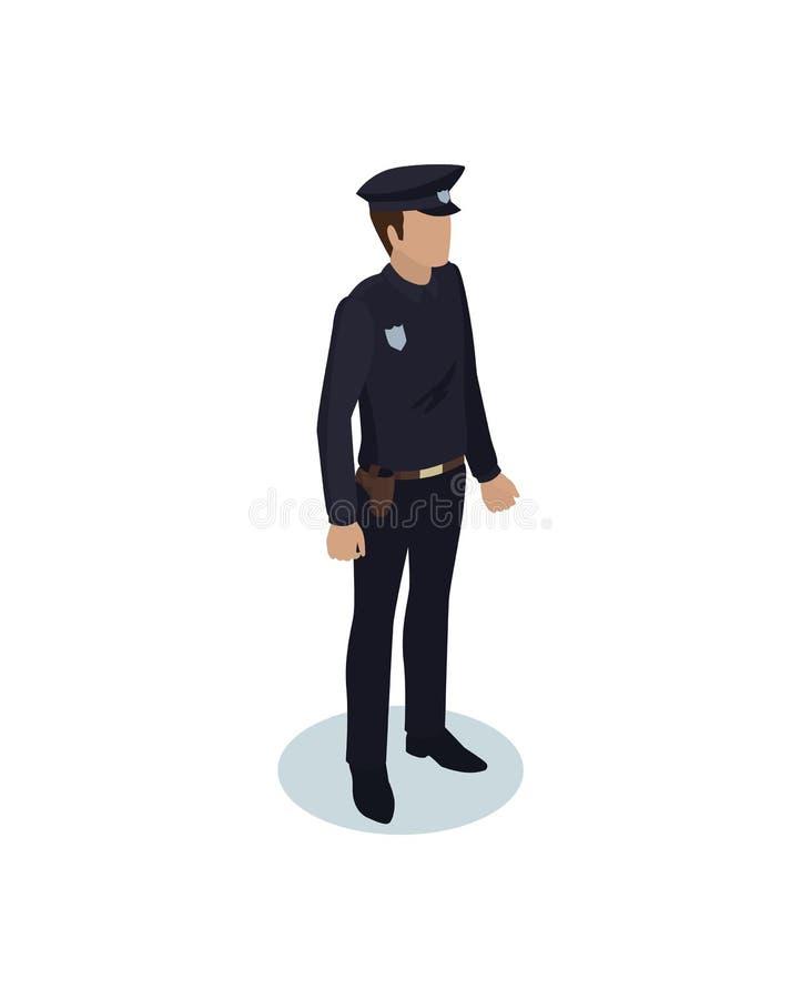 Αστυνομικός στην ομοιόμορφη διανυσματική απεικόνιση απεικόνιση αποθεμάτων