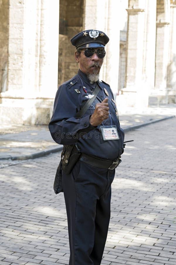 Αστυνομικός της Αβάνας στοκ φωτογραφία με δικαίωμα ελεύθερης χρήσης