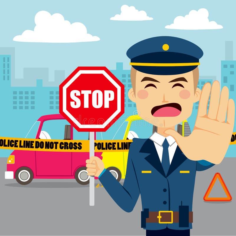 Αστυνομικός τροχαίου διανυσματική απεικόνιση