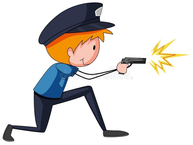 αστυνομικός διανυσματική απεικόνιση