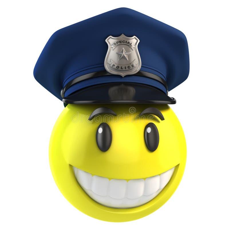 Αστυνομικός Smiley ελεύθερη απεικόνιση δικαιώματος