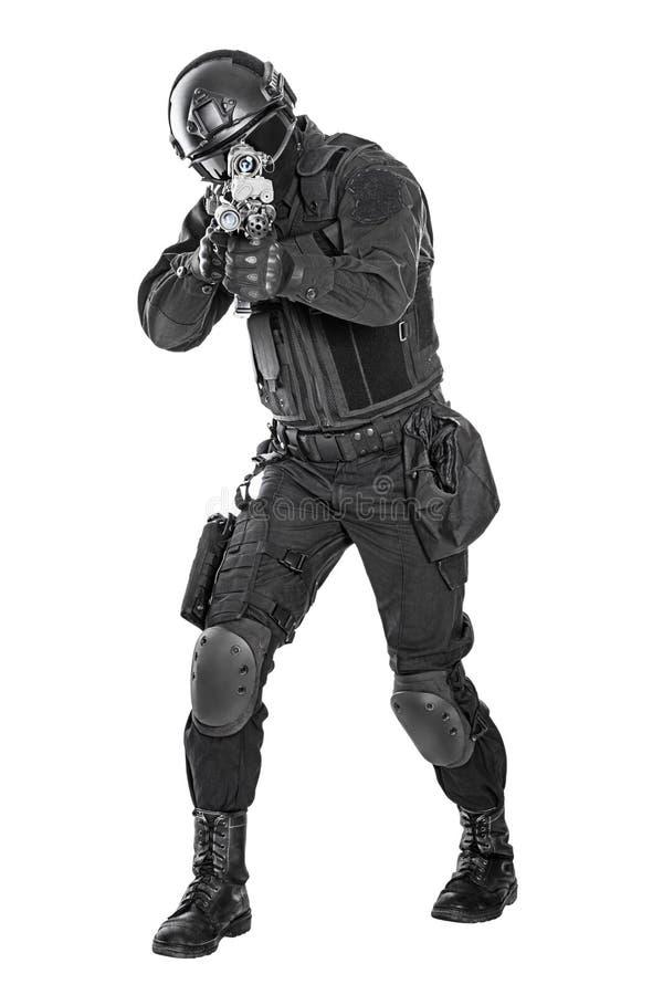 Αστυνομικός SWAT στοκ φωτογραφίες με δικαίωμα ελεύθερης χρήσης