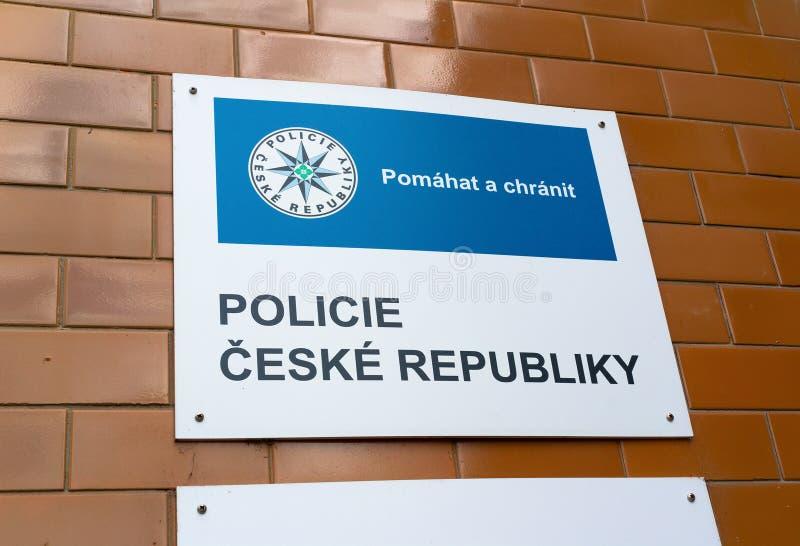 Αστυνομικό τμήμα στη Δημοκρατία της Τσεχίας στοκ εικόνες με δικαίωμα ελεύθερης χρήσης