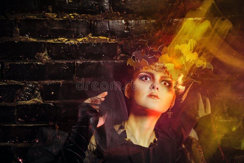 Ασυνήθιστη μάγισσα αποκριές στοκ εικόνα με δικαίωμα ελεύθερης χρήσης