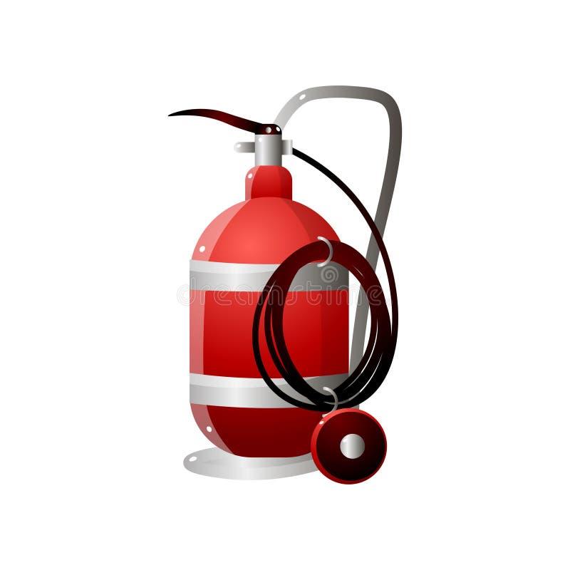 Ασυνήθιστοι κόκκινοι πυροσβεστήρες Πυροσβεστήρας για την πυρασφάλεια ελεύθερη απεικόνιση δικαιώματος