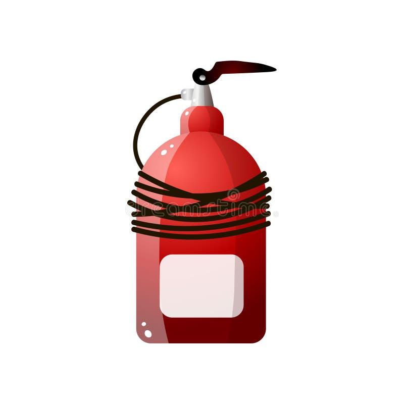Ασυνήθιστοι κόκκινοι πυροσβεστήρες Πυροσβεστήρας για την πυρασφάλεια διανυσματική απεικόνιση