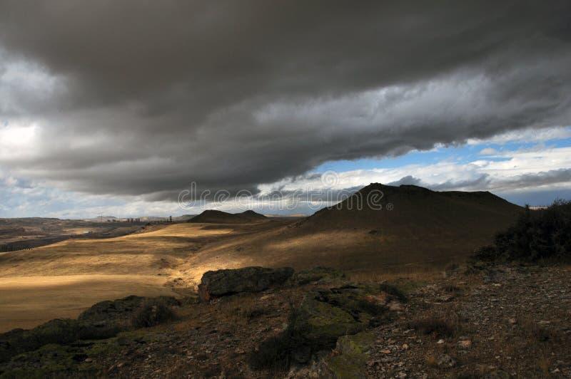 Ασυνήθιστοι φύση και καιρός στο έδαφος Cappadocia στοκ φωτογραφίες με δικαίωμα ελεύθερης χρήσης